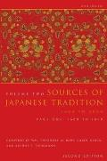 Sources of Japanese Tradition, Volume 2, Second Edition, Abridged: Part 2: 1868 to 2000 (Introduction to Asian Civilizations) Cover