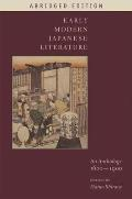 Early Modern Japanese Literature: An Anthology, 1600-1900 (Translations from the Asian Classics) Cover
