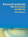 Research Methods for Business Students (5TH 09 Edition)