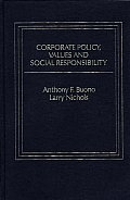 Corporate Policy, Values and Social Responsibility.