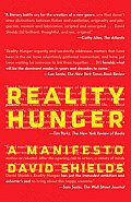 Reality Hunger: A Manifesto Cover