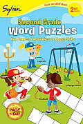 Second Grade Word Puzzles (Sylvan Fun on the Run Series) (Fun on the Run Language Arts)