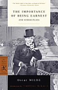 The Importance of Being Earnest: And Other Plays Cover