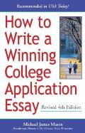 How to Write a Winning College Application Essay, Revised 4th Edition: Revised 4th Edition Cover