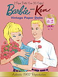 Barbie and Ken Vintage Paper Dolls (Barbie) (Paper Doll Book)