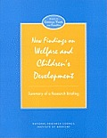 New Findings on Welfare & Children's Development: Summary of a Research Briefing