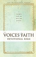 Voices of Faith Devotional Bible-NIV: Insights from the Past and Present