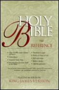 Bible Kjv Burgundy Reference Gold Thumb