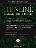 Bible Niv Navy Thinline Large Print