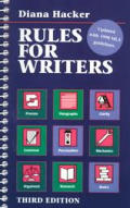 Rules For Writers A Brief Handbook Updated