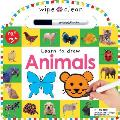 Animals 26 Wipe Clean Pages of...