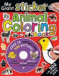 My Giant Sticker Animal Coloring Book With CDROM