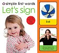 Simple First Words Lets Sign With 32 Interactive Flash Cards