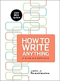 How to Write Anything with 2009 MLA Update A Guide & Reference