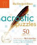 New York Times Acrostic Puzzles Volume 11