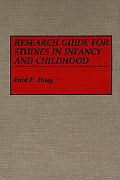 Research Guide for Studies in Infancy and Childhood