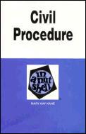 Civil Procedure In A Nutshell 4th Edition
