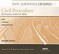 Sum & Substance Audio on Civil Procedure, 7th Edition