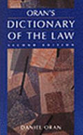 Orans Dictionary Of The Law 2nd Edition