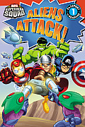 Super Hero Squad: Aliens Attack! (Passport to Reading Media Tie-Ins - Level 1)