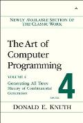 The Art of Computer Programming, Volume 4, Fascicle 4: Generating All Trees, History of Combinatorial Generation Cover