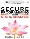 Secure Programming with Static Analysis with CDROM (Addison-Wesley Software Security Series) Cover