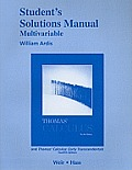 Thomas'calculus, Part Two -student Solution Manual (12TH 10 Edition)