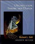 Organization Theory & Design 7th Edition