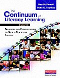 Continuum Of Literacy Learning Grades K 8 Behaviors & Understandings To Notice Teach & Support