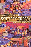 Syntactic Theory (Modern Linguistics Series)