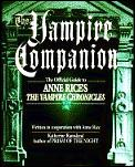 Vampire Companion The Official Guide To Anne