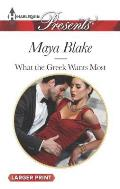 Harlequin Large Print Presents #3294: What the Greek Wants Most