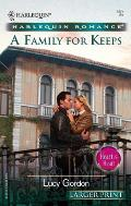 Harlequin Romance Large Print #689: A Family for Keeps: Heart to Heart Cover