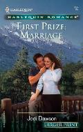 Harlequin Romance Large Print #692: First Prize: Marriage Cover