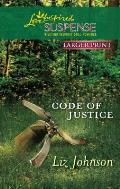 Code of Justice (Love Inspired Large Print Suspense)