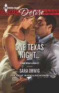 Harlequin Desire #2266: One Texas Night...