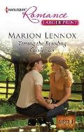 Harlequin Romance Large Print #4334: Taming the Brooding Cattleman Cover
