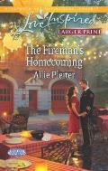 The Fireman's Homecoming (Love Inspired Large Print)
