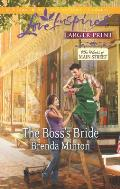The Boss's Bride (Love Inspired Large Print)