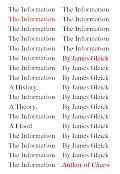 The Information: A History, a Theory, a Flood Cover