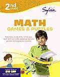 Second Grade Math Games & Puzzles (Sylvan Workbooks) (Math Workbooks) Cover