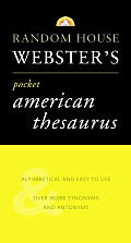 Random House Roget's Pocket American Thesaurus: New Edition (Best-Selling Random House Webster's Pocket Reference) Cover