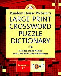 Random House Webster's Large Print Crossword Puzzle Dictionary (Large Print)