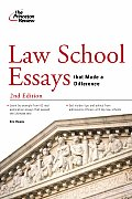 Law School Essays That Made a Difference (Princeton Review) Cover