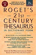 Rogets 21st Century Thesaurus In Dictionary Form