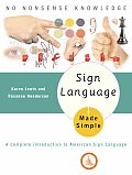 Sign Language Made Simple (Made Simple Books) Cover