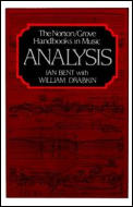 Analysis Norton Grove Handbooks In Music