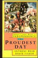 The proudest day :India's long road to independence Cover
