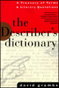 Describers Dictionary A Treasury Of Terms &