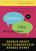 They Say I Say With Readings 2nd Edition The Moves That Matter in Academic Writing
